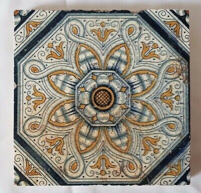 Minton Symmetrical Design Antique Arts & Crafts 6 Inch Tile