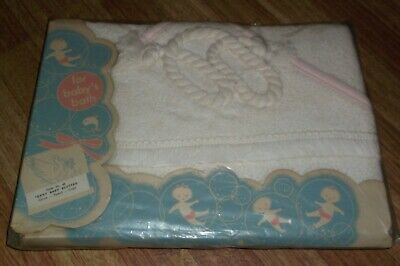 Vintage Thomas Terry Baby Blotter Apron Towel Or Cape