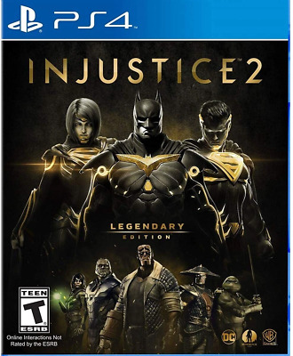 Injustice 2 - Legendary Edition PS4 (Sony PlayStation 4, 2017) Brand New