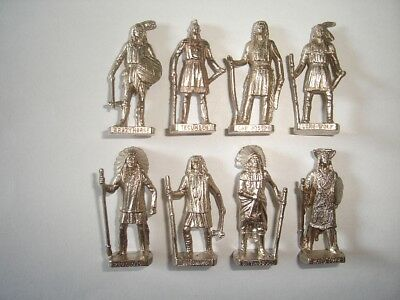 KINDER SURPRISE MINIATURES HUNS WARRIORS CHROME VINTAGE METAL FIGURINES SET