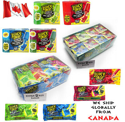 Juicy Drop Taffy Gum Apple Blueberry Watermelon Punch Candy Sour Gel Topps