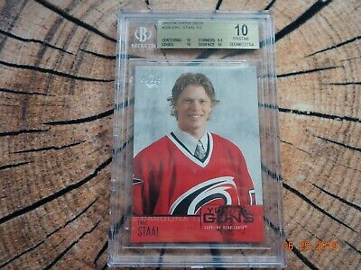 2003-04 Upper Deck Young Guns Rookie Eric Staal#206 UD YG RC BGS 10 Pristine