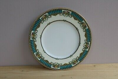 Antique MINTON Cabinet Plate Turquoise Red Gold Gilt Floral H3813