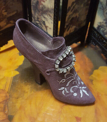 """Vintage Miniature """"Just The Right Shoes"""" Purple Boots Shoes"""