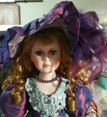 BEAUTIFUL LARGE PORCELAIN DOLL  54cm