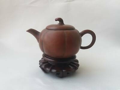Rare Antique Vintage Chinese Yixing Zisha Pottery Teapot With Chinese Marked