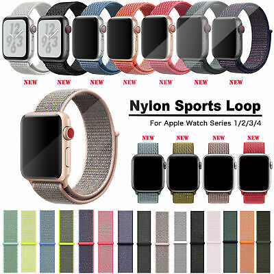Nylon Loop Uhrenarmband Armband Für Apple Watch 44mm 42mm 40mm 38mm 5 4 3 2 1
