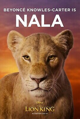 The Lion King 2019 Movie Poster (24x36) - Nala, Beyonce Knowles-Carter v4