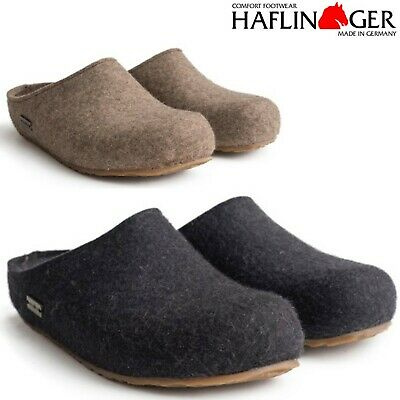 Haflinger Grizzly Michl Wool Felt Slippers Clogs - All Colors And Sizes