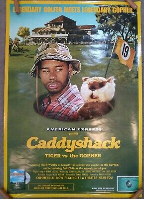 Tiger Woods Caddyshack American Express Advertising Poster
