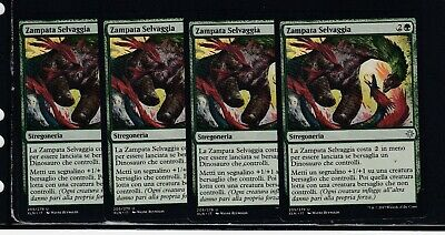 Magic 4x Zampata Selvaggia - Savage Stomp 205/279 NC XLN ITA