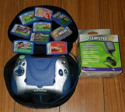 Leap Frog Leapster L-Max Learning System Educational Toy w 9 Games & Case