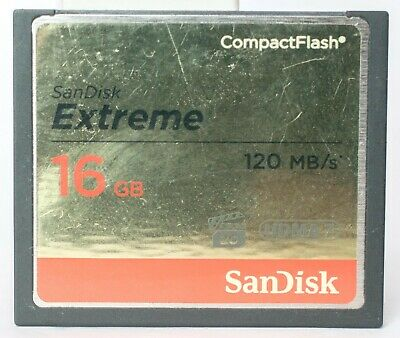 SanDisk Extreme 16GB 120MB/sec compact flash card.