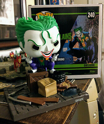 Funko pop The Joker hush 240 Dc collection jim lee deluxe super villains figure
