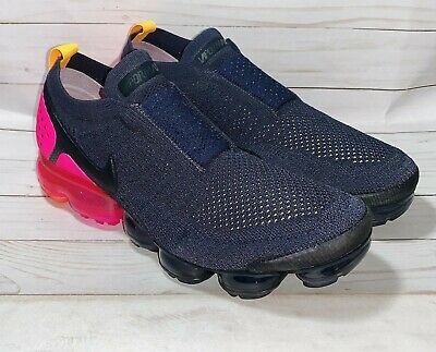 Nike Air Vapormax Flyknit Moc 2 Black Pink Orange Women 12/Men 10.5 AJ6599-001