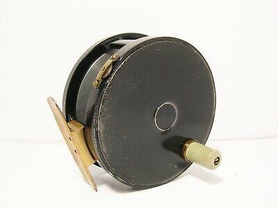 """Vintage Carter & Co 4 1/4"""" Wide Drum Fly Fishing Reel - Perfect Pattern"""