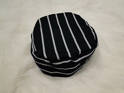 Yarn-Dyed Navy/White Striped Chef Box Hat