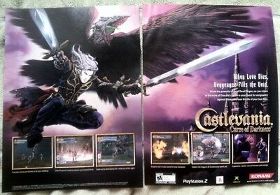 Castlevania Curse of Darkness Poster Ad Print Playstation 2 XBox