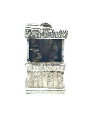 EARLY Vintage Sterling Silver Articulated Punch Judy British Puppet Show Charm