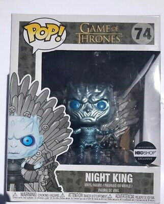 Funko Pop! #74 Metallic Night King On Throne HBO Shop Exclusive Game Of Thrones