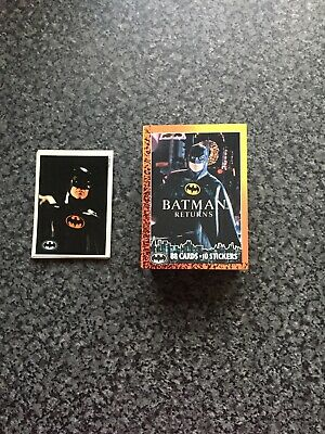 Batman Returns Trading Cards by Topps - Complete Set of 88 & 10 stickers - 1992