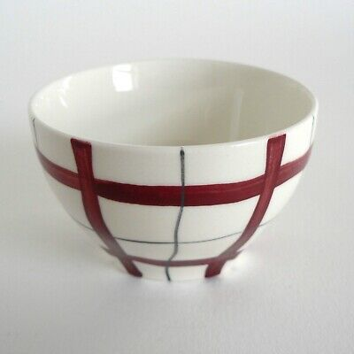 Midwinter Pottery Homeweave Red Small Sugar Bowl 1950'S Vintage Stylecraft Tait