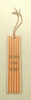 Thank You Lord Bookmark Laminated Tassel Christian