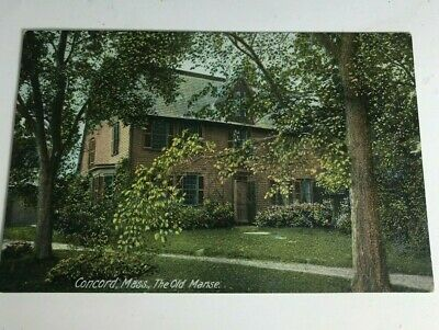 Concord Mass The Old Manse Postcard