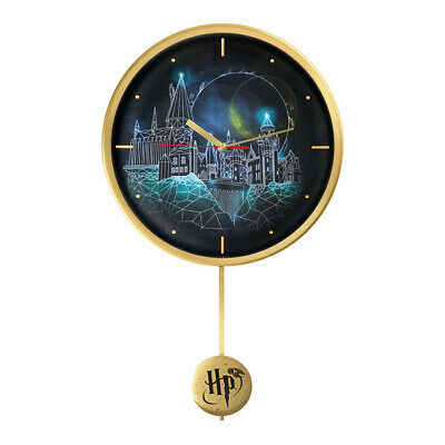 Harry Potter Hogwarts and Golden Snitch Wall Clock with Bonus mini figure