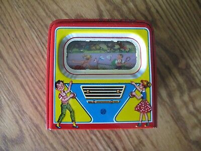 Tinplate Toy TV Bank Marked D.B.G.M West Germany