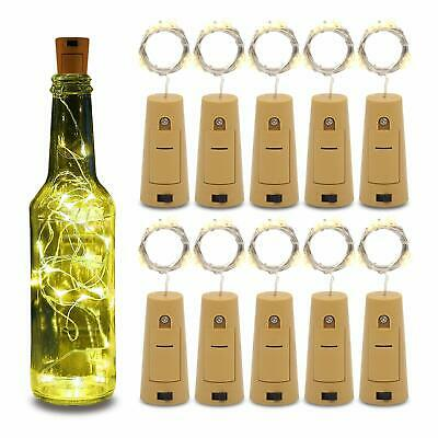 2M 20 LED Bottle Fairy String Lights Battery Cork Shaped Christmas Wedding Party