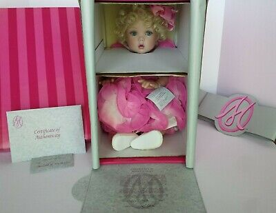 New Coa #413 Marie Osmond Child's Play Rose Coming Up Roses Porcelain Doll