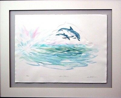 "SIGNED RICHARD E WILLIAMS OFFSET LITHOGRAPH "" Born Free "" Dolphins Ltd Ed 39/650"