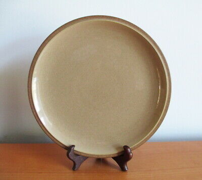 "Denby Energy Cinnamon Salad Side Plate 9"" Brown Stoneware England"