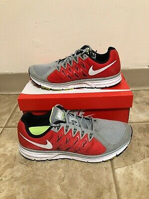 promo code c7a69 181a2 Men s Nike Zoom Vomero 9 Running Shoes Size 12 Grey Red 642195-006