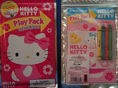 b47d565cf Hello Kitty Pretty & Pink Play Pack Grab & Go Coloring Book Stickers Crayon  NEW
