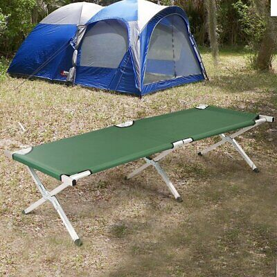 Foldable Camping Hiking Bed Portable Military Cot W/ Carrying Bag