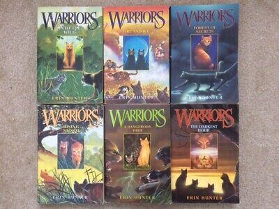 Warriors the Prophecies Begin series 1-6 set by Erin Hunter first series lot