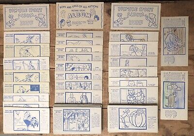Collection Of 90 Vintage NABISCO Kids Picture Story Album Trading Cards