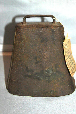 Antique Metal Large COW BELL Hand FORGED c1870
