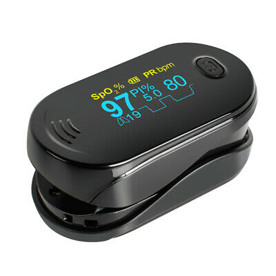 Fingertip Pulse Oximeter Oxymeter SPO2 PR Probe Heart Rate Monitor +Lanyard FDA
