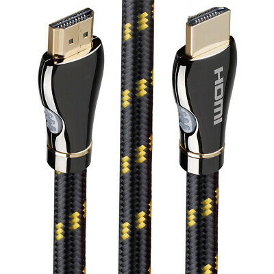 Braided Ultra HD HDMI Cable V2.0 High Speed 2160P 4K 3D HDTV Gold ~