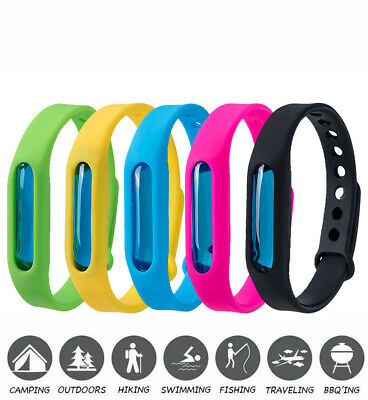 5pc Natural Anti Mosquito Insect Essential Oil Bug Repellent Wrist Band Bracelet