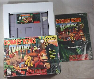 Donkey Kong Country 1 (Super Nintendo SNES) Complete in Box GOOD