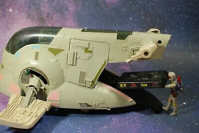 VINTAGE STAR WARS COMPLETE BOBA FETT SLAVE 1 VEHICLE + ACTION FIGURE KENNER one