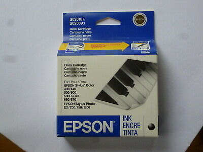 Genuine EPSON S020093 High Capacity Ink Cartridge Black  New