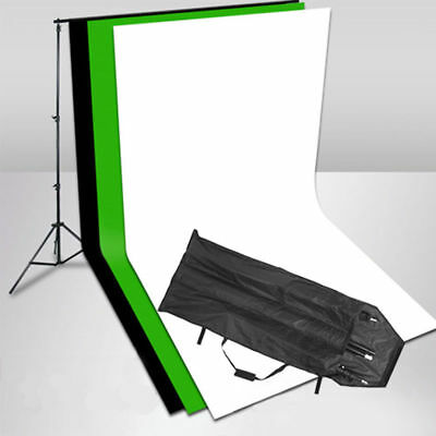 Chromakey Photo Studio Screen Green Black White Backdrop Background Stand Kit