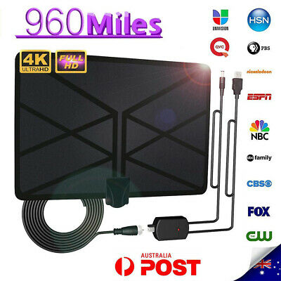 Antenna TV Digital HD 960 Mile Range Skywire TV Indoor 1080P 4K 25FT Coax Cable