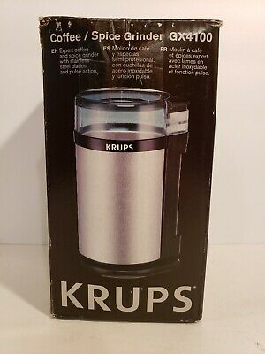 KRUPS GX4100 Electric Spice Herbs and Coffee Grinder with Stainless Steel Blades