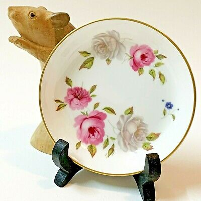 Royal Worcester Marissa Rose, Fine Bone China Pin Trinket Dish 11cm 70's Vintage